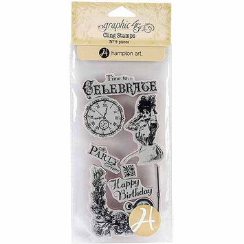 Hampton Art Graphic 45 Time To Celebrate Cling Stamps 1