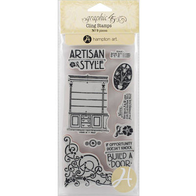 Hampton Art Graphic 45 Artisan Style Cling Stamps 1