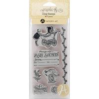 Hampton Art Graphic 45 Precious Memories Cling Stamps-Precious Memories 2