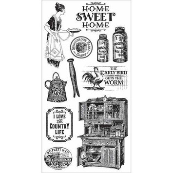 Hampton Art Graphic 45 Home Sweet Home Cling Stamps 1