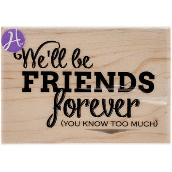 Hampton Art Mounted Rubber Stamp 2.5inX3.5inYou Know Too Much