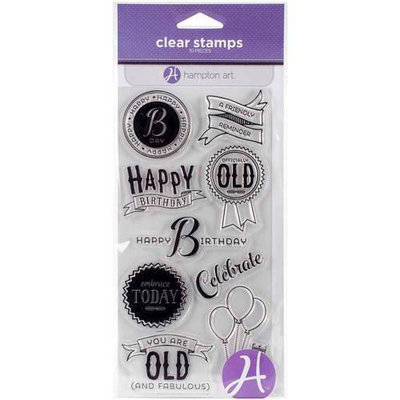 Hampton Art Clear Stamps 4inX8in SheetLove