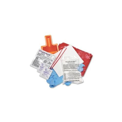 Layflat Miscellaneous Disposables Cleanup Pathogen Kit, White/Red