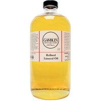 Gamblin Refined Linseed Oil 16 oz. bottle