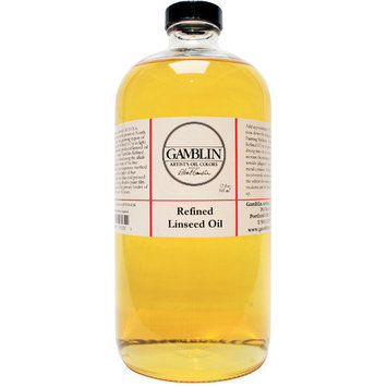 Gamblin G06008 8oz Refined Linseed Oil