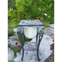 Oakland Living 5080AP Hummingbird Candle Holder With Candle Antique Pewter