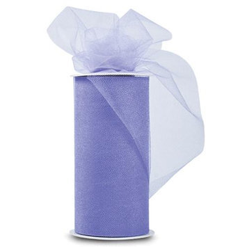 Expo TL2402-LLC Shiny Tulle 6 in. x 25yd Spool-Lilac