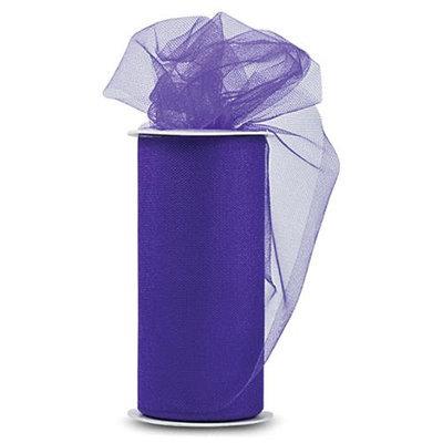 Expo TL2402-PR Shiny Tulle 6 in. x 25yd Spool-Purple