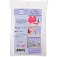 June Tailor Sew Simple Fusible Interfacing 58/60inX36in-White