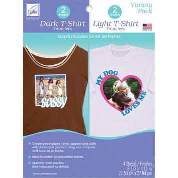 June Tailor T Shirt Iron On Ink Jet Transfer Sheets 8.5inX11in 4/Pkg