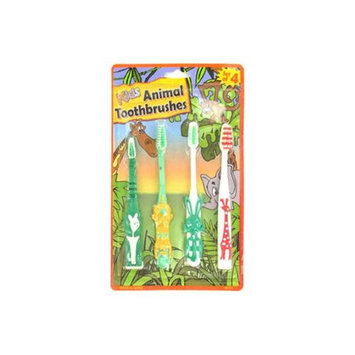 Kole Imports Kid & -039;s animal toothbrushes - Pack of 24