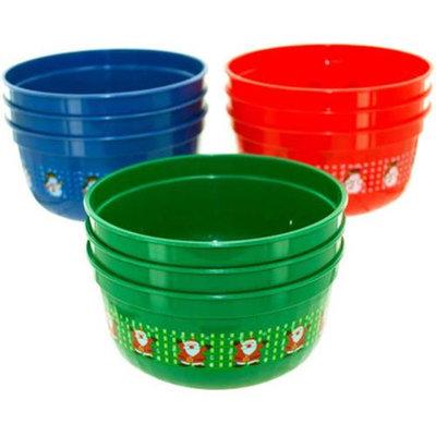 Bulk Buys Small Christmas bowls Case Of 12