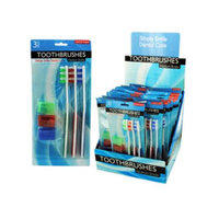 Bulk Buys 3 piece toothbrushes (24 piece per pdq) Case Of 24