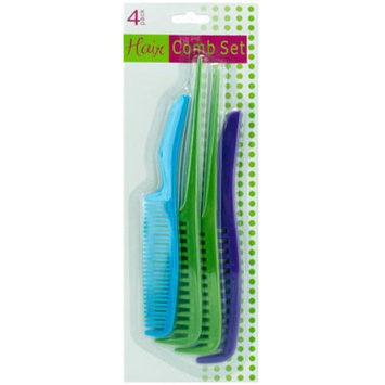Bulk Buys Plastic Comb Value Pack- 4 Pack - Case of 12