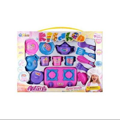 Kole Imports 14-Pc Kids Kitchen Play Set