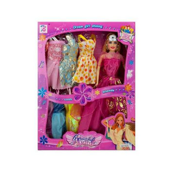 Kole Imports Fashion Doll with Dresses
