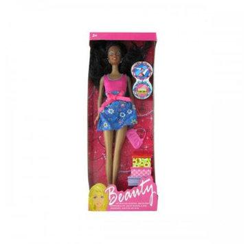 Bulk Buys Oc746 Black Fashion Doll With Accessories