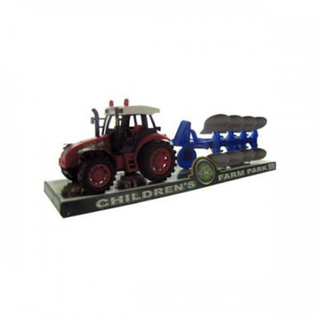 Bulk Buys Oc772 Friction Farm Tractor Truck And Trailer Set Pack Of 4