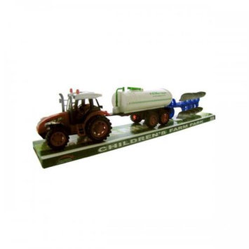 Bulk Buys Oc774 Friction Farm Tractor Truck And Double Trailer Set