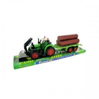 Bulk Buys Oc775 Friction Farm Tractor Truck And Trailer Set