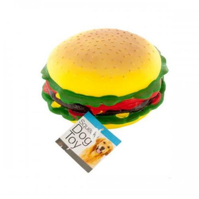 Bulk Buys Od367 Giant Burger Squeaky Dog Toy Pack Of 4