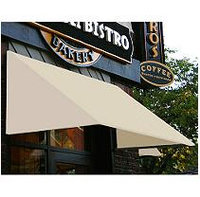Awntech 6-ft 4-1/2-in Wide x 2-ft 6-in Projection Olive Slope Low Eave Window/Door Awning EF1030-NV-6A