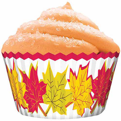 Cupcake Creations Standard Baking Cups 32-pack - Autumn Leaves