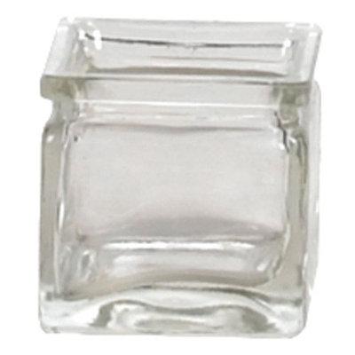 Oddity, Inc. Oddity Inc. 79501 2 in. x 2 in. Pressed Glass Square Tea Light Holder - Case of 12