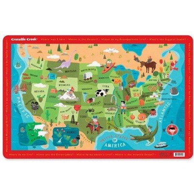 Crocodile Creek Placemat - USA Map - 1 ct.