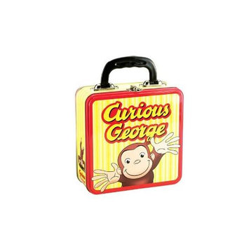 Vandor Products Lunch Box - Curious George - Monkey Tin Metal Case Gifts Toys Licensed 53592
