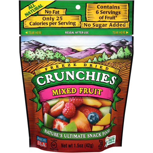 Crunchies Freeze Dried Snack Food, Mixed Fruit, 1.5 oz