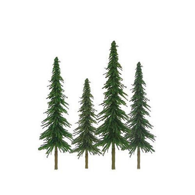 Jtt Scenery Products JTT Miniature Tree 92026 Super Scenic Tree, Spruce 2-4