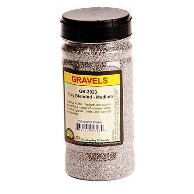 Medium Gravel Shaker, Gray Blend/350 grams JTT95323 JTT SCENERY PRODUCTS