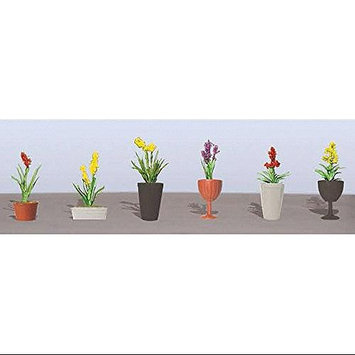 Flowering Potted Plants Assortment 2, 1-1/2 (6) JTT95568 JTT Scenery Products