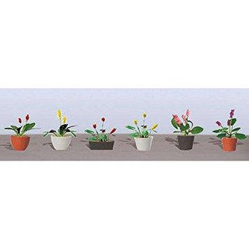 Flowering Potted Plants Assortment 3, 1 (6) JTT95570 JTT Scenery Products