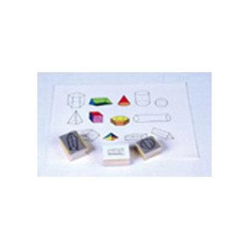 Center Enterprises Three-Dimensional Geometric Shapes Stamps - Set of 13
