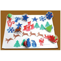 Center Enterprises Inc. CE6725 Giant Christmas Stamps Set of 10