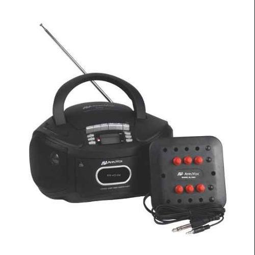 AmpliVox SL1014 Six-Station Listening Center/Boombox- Gray