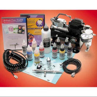Iwata DELUXE AIRBRUSH SET Eclipse HP-CS Compressor DVD
