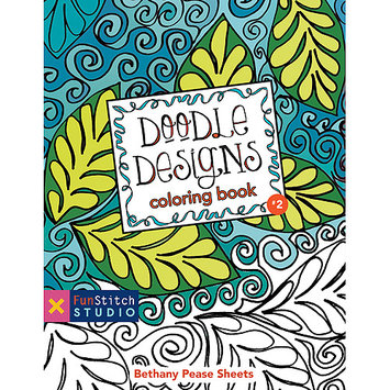 C & T Publishing FunStitch Studio-Doodle Designs Coloring Book