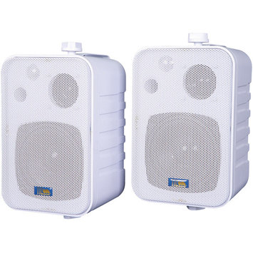 TIC Corporation ASP25BW Indoor/Outdoor 2-Way 50W Speakers White