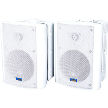 TIC Corporation ASP60W Indoor/Outdoor 75W Speakers with 70V Switching, White