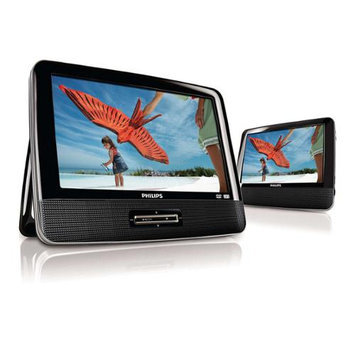 9 Philips Widescreen Portable Black Travel Car DVD Player w/ Speaker PD9012/37