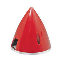 Spinner 2-1/2 Nylon Alum Red GPMQ4771 GREAT PLANES
