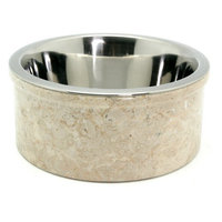 Creative Home Champagne Marble Pet Dish, Size: 1 Quart Bowl