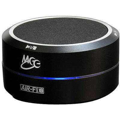 MEElectronics Air-Fi AFS1 Black Wireless Bluetooth Speaker with Speakerphone