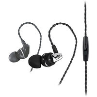 MEElectronics A151P-BK Balanced Armature In-Ear Headphones with Microphone
