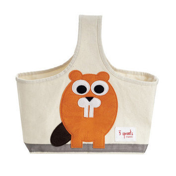 3 Sprouts Organic Storage Caddy in Orange Beaver