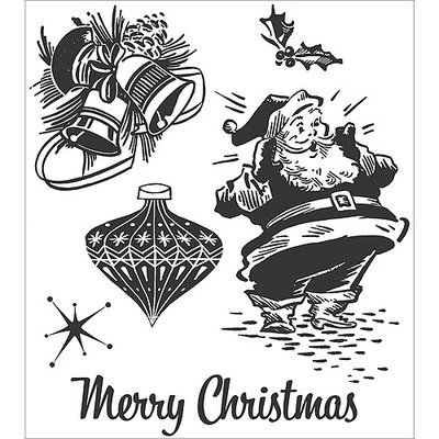 Aqualink Nevada, Llc Tim Holtz Cling Rubber Stamp Set-Christmas Memories