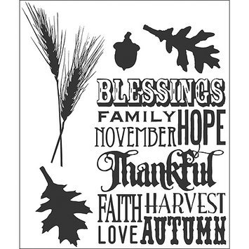 Tim Holtz Cling Rubber Stamp Set-Thanksful Silhouettes